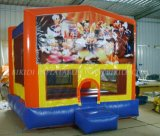 Schlag House Inflatable Bouncer Moonwalk Jump federnd Castle mit Changeable Banner