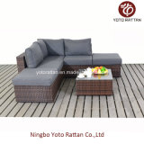 Small di vimini Corner Sofa Set per Outdoor (1201)