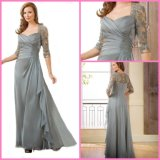 3/4 Sleeves Lace Vestido formal A-Line Chiffon Prom Party Vestidos de noite E3396
