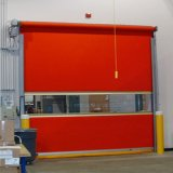 Porte rapide électrique industrielle d'obturateur de rouleau de PVC pour l'application d'entreposage au froid (HF-J305)