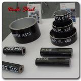 Abgeschrägtes Ende API 5L Gr. B Seamless Carbon Steel Pipe mit Plastic Caps