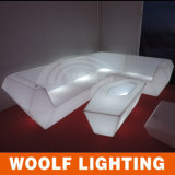 Nachtclub-Möbel, LED-Nachtclub-Sofa, Farben-änderndes Ereignis-Sofa