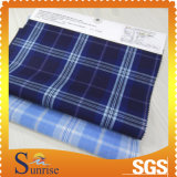 el hilado 4.8OZ teñió 57/58 tela de algodón para la ropa