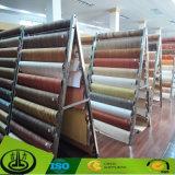 Papel decorativo de la melamina de madera indecolorable del grano para el suelo