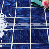 telha da piscina da porcelana do azul de cobalto do teste padrão de onda 4 '' x4 '' (BCP604)