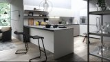 Gabinete de madeira do branco dos armários da cozinha moderna barata