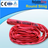 6t Green Polyester Round Webbing Sling