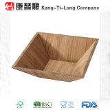 Квадратные Bamboo деревянные шары салата