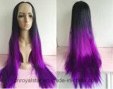 Del merletto dei capelli del commercio all'ingrosso della parrucca capelli sintetici diritti anteriori lungamente