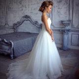 Elegant eine Zeile Brautkleider der Spitze-2016 (SL308-1)