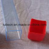 Tubo transparente del PVC con el casquillo suave para empaquetar