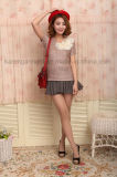 Sweater van de Flora van meisjes de Roze Korte Koker Gebreide