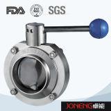 ステンレス鋼の食品等級の手動溶接された蝶弁(JN-VV1001)