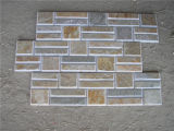 Culture Stone Slate, Jaune / Rusty / Green / Black / Grey / Mixed Color Slate for Wall Cladding Decoration