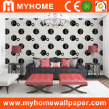 PVC Wall Paper del blanco y de Black Design con Waterproof
