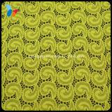 Tela elástica amarela do laço para a matéria têxtil Home