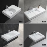 Bacia de superfície contínua do banheiro da pedra da resina dos mercadorias sanitários para o hotel