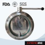ステンレス鋼のハンドルによって締め金で止められる衛生蝶弁(JN-BV2003)