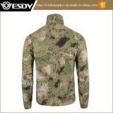 Uomini respirabili ultrasottili della camicia della pelle della camicia degli uomini militari di Esdy