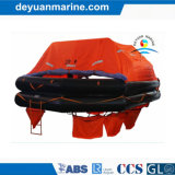 20 Personen Solas genehmigten Mannthrow-über Bord Yacht-Typen aufblasbare Rettungsflöße mit gutem Preis