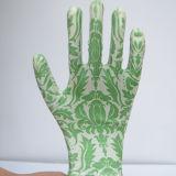 Цветастая перчатка Gmnr009 работы безопасности нитрила отпечатка