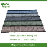 Mattonelle di tetto d'acciaio rivestite di pietra colorate (tipo di legno)