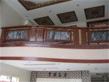 Balustrade en bois de marbre moderne et élégante d'escalier