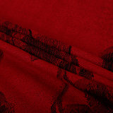 Xaile vermelho da forma do lenço do inverno de Pashmina da flor para a senhora