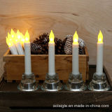 Gelbe flammenlose Kerze-Kirche-Leuchten der Batterie-LED Votive