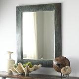 Specchio industriale della parete incorniciato metallo Finished verde antico di rettangolo