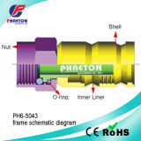Rg11 conetor de cabo da compressão CATV para o cabo coaxial (pH6-5043)