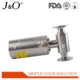 Válvula de esfera sanitária pneumática da braçadeira de 2 maneiras do produto comestível