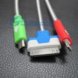 Cable ligero brillante estupendo del cargador del USB de la luz LED para el iPhone 4G, 5g, 5s, 5c, Samgsung