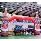 Aufblasbarer Arch/HD Druck-aufblasbarer Bogen der Getränkeflaschen-