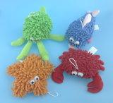 多彩で柔らかい詰められたプラシ天猿のおもちゃ