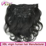 Grampo na extensão brasileira do cabelo do grampo de cabelo humano do Virgin do cabelo