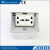 알루미늄 Single 갑자기 나타나 Floor Mount Socket 15A Outlet