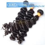 индийские глубокие человеческие волосы 100% волны 3AAA