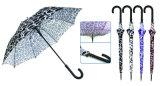 ワニの皮のコンパクトの手動アルミニウム傘(YS-3FM21083947R)