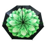 新しい項目習慣は印刷した花の紫外線3つのフォールドの傘(FU-3821C)を
