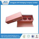 カスタムふた及び内部の皿の卸売が付いているロゴによって印刷されるピンクカラーペーパーギフト用の箱