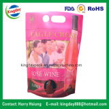 Sacchetto del vino in casella con il foro della maniglia & del becco