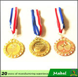 Sticker su ordinazione Epoxy Logo Metal Blank Sports Medal con Ribbon