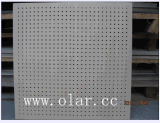 El panel de techo decorativo colorido fonoabsorbente del cemento de la fibra