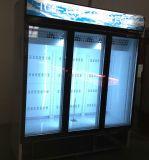 Amerika-Art-dreifache Glastür-aufrechte Bildschirmanzeige-Kühlvorrichtungen für Supermarkt-Flaschen-Getränk-Kühlvorrichtungen