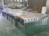正面システムのための特別なバルコニーデザイン穴があいたアルミニウムパネル