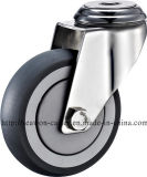 Edelstahl-Serie - TPR Fußrolle (runde Kante)