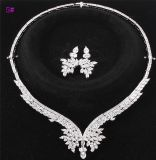 Xuping Silver Color CZ Stone Luxury Wedding Jewelry Set (놓으십시오 16)