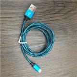 1mから3mカスタマイズされた長さのナイロン携帯電話USBケーブル