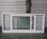Guichet de glissement en aluminium de profil en aluminium enduit de la poudre Kz329 avec l'écran fixe de moustique d'acier inoxydable